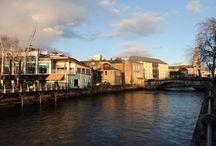 Sun rise/set / Sunrise ou sunset, especially in Ireland