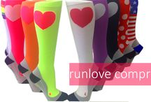 New Compression Socks / NEW Neon collection now available.  Stay bright and visible in our runlove compression socks.