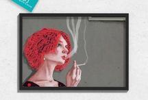 Grafika / Ciekawe grafiki w formie ozdób ściennych idealne do upiększenia nowoczesnego wnętrza.