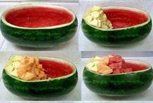 Fruta mesa de postre