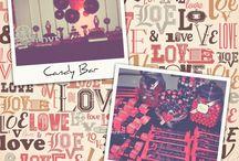 Candy Bar & Ambientación Love... / Temática de Quince Años...  *Cumpleaños de Abril en Palacio Leloir.