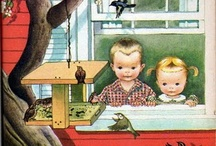 Eloise Wilkin / Eloise Wilkin's  (1904-1987) career covered more than 50 years, involving illustration and writing, free-lance drawing, & doll design. After graduating from The Rochester Institute of Technology, Eloise Burns moved to New York City. In 1935, she married Sydney Wilkin & had 4 children. She illustrated over 20 books with her sister Esther, who also married a Wilkin. In 1943, she was offered a contract with Simon & Schuster and worked almost exclusively for Little Golden Books until 1961.