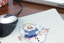 Free Winter Cross-Stitch Patterns / by Craft Downloads