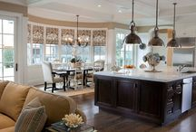 Living Spaces / Kitchen, living room, home office, dining room / by Jamie Cowart