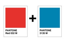 Blue + red palette inspiration