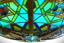 Stained Glass Domes / Our stained glass domes, with optional LED lighting.