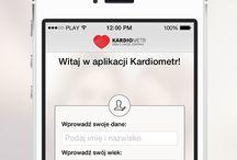 Kardiometr - aplikacja mobilna / Aplikacja pozwala na monitorowanie pomiarów ciśnienia. Przypomina o pomiarach, aktywności fizycznej oraz o zażyciu leków.