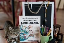 Homeschooling Rooms, Desks, Curriculum Journals and Fun-Schooling Baskets / Interesting ways to organize your homeschooling space for kids ages 2 to 18, including tips from a Mom of 10!