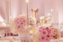 Pink gold and white wedding