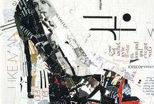 Collage e disegni