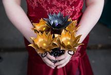 Bouquets: Leather / Bridal bouquets made of leather flowers, and leather bits and bobs. #wedding #weddingbouquet #bridalbouquet #leatherbouquet #leatherbridalbouquet #leatherweddingbouquet #alternativebouquet #alternativebridalbouquet #alternativeweddingbouquet #bouquetalternative #bridalbouquetalternative #weddingbouquetalternative