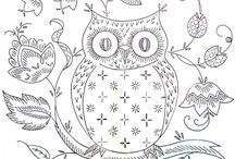 Colouring pages / Colouring in