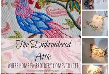 Celebrate-Creativity/Embroidery / Colorful projects created using a home embroidery machine.