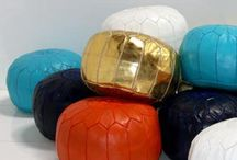 Modern Moroccan / Borrowing from traditional Moroccan furniture styles, but adding a decidedly modern spin, Room Service's Modern Moroccan collection is the perfect addition to spice up your decor. Vibrant colors, repeating geometric motifs, metal details, and luxurious seating perfect for lazing about are all characteristics of this collection which will make you feel as though you've been transported to a far off world.