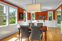 Dining Room / Inspiration to refresh the dining room - light fixtures, curtains, decor and more