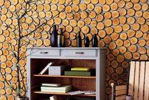 Wood Slices Decor Ideas(odun duvar)