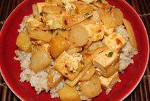 tofu,water chestnut,bamboo shoots, pineapple stirfry