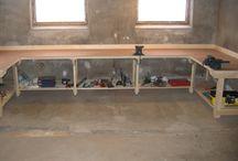 Garage workbench heavy duty