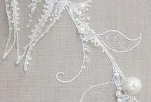 Вышивка / Embroidery, вышивка по капрону, хрустальными бусинами, необычная вышивка, вышитые картины и миниатюры