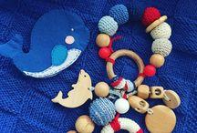 Погремушки / Тактильные развивающие игрушки для малышей, можжевеловые прорезыватели.