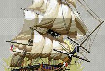 Корабли, парусники, море, маяки