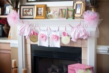 Baby Shower Ideas / Baby sugar cookies and decorating mantel