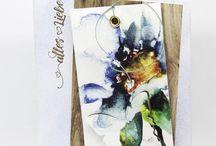 Designpapier Aquarell blaue Blüten