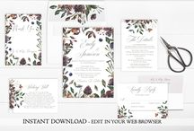 Printable Wedding Invitations / Printable Wedding Invitations Digital Wedding Invitations Editable Wedding Invitations Template