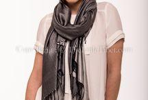 Silk pashminas two-tones shawls