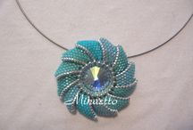 Pendants blue spiral