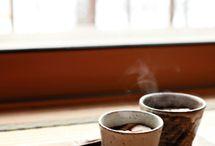 Hot drinks.