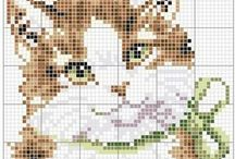 Punto de cruz de gato