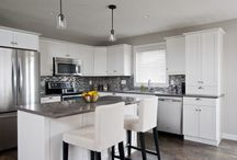 Kitchens with islands l shaped white