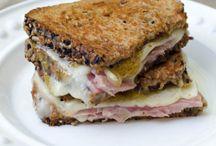 Fig jam ham & cheese sandwich / Yum