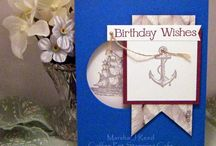 Guy Cards: Nautical theme / Masculine greeting cards with boats, lighthouses, anchors, helm, and so on