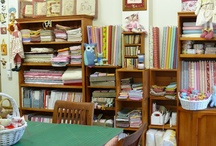 My studio craft room / This is where I love to sew and hold my sewing class. My studio is open by appointment only.  Please let me know what you think - I love changing things around too!  #craftroom