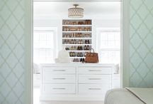 Closets & Dressing Rooms / Traditional, feminine, and playful closets