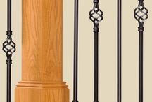 "Adjustable Iron Balusters - Ole Iron Slides / ANNOUNCING ""Adjustable Telescoping Balusters""perfect for DIY because you can design & install without having to cut metal or drill at an angle. Swivel top & a flat base shoe included for easy installation. Adjusts from 28 1/2"" to 38"" & up to 42"" using our 16"" extension. Leave your wood rail & newel in place, remove the wood spindles and replace them. All you need is a drill & screwdriver. Allen wrench included.  Pricing = $7 - 27 depending on style & finish."