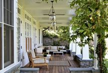 Porches and Outdoor Living Spaces / Finding peace and tranquility on beautiful front porches-  extending your living space outside.