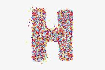 H's / Every H tells a story.  The H is our flag. The shape and space of the letter is a blank canvas for us to tell stories and share our work. This is the collection of H's we've created so far.  http://huge.is/1JnQdgo / by Huge