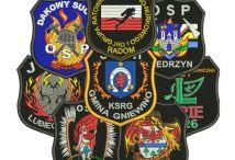 Naszywki strażackie galeria / Haftowane naszywki dla Straży Pożarnej, naszywki naramienne, dystynkcje,