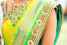 South Indian Bride in Temple Patterned Jewelry