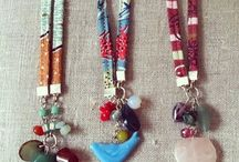 Texile necklace
