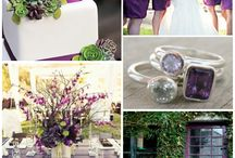 Purple & Green Wedding