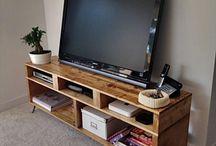 Meuble de télé en palette