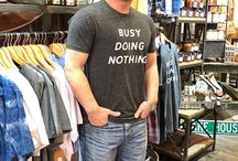 Bohemian Inspired Fashion Sexy sexy!  Dudes y'all need to get in here and skim our Men's section!  This Kat snagged himself a snarky tee off our rack!!