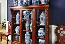 Blue and White / Blue and white porcelain, china, glassware