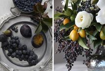 Wedding tablescapes / This is made for our caterer to get a sense of the serving pieces and tablecloths to pick. / by Andrea Albersheim