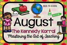 August Teaching Ideas / Fun back-to-school themed activities for kids including apples, books, and students.  Find exciting science experiments and STEM ideas, too.