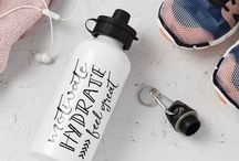 Tillyanna - drinks bottles / a monochrome typography range of water sports bottles